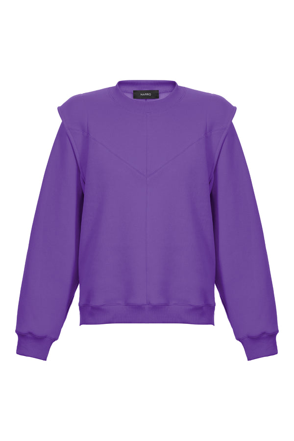 Layered Shoulder Sweatshirt in Mauve
