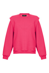 Layered Shoulder Sweatshirt in Fucsia