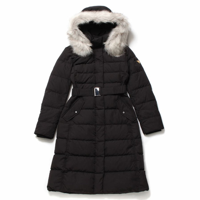 【レンタル】GUESS/FUR HOODED GOOSE LONG DOWN JACKET