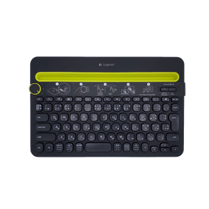 正面から写したlogicool MULTI-DEVICE KEYBOARD K480