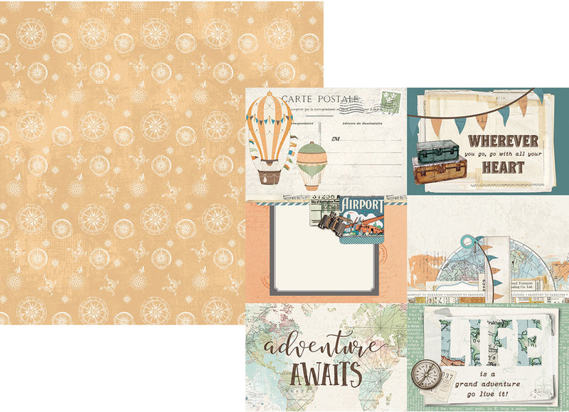 Simple Vintage Traveler 12x12 Collection Kit