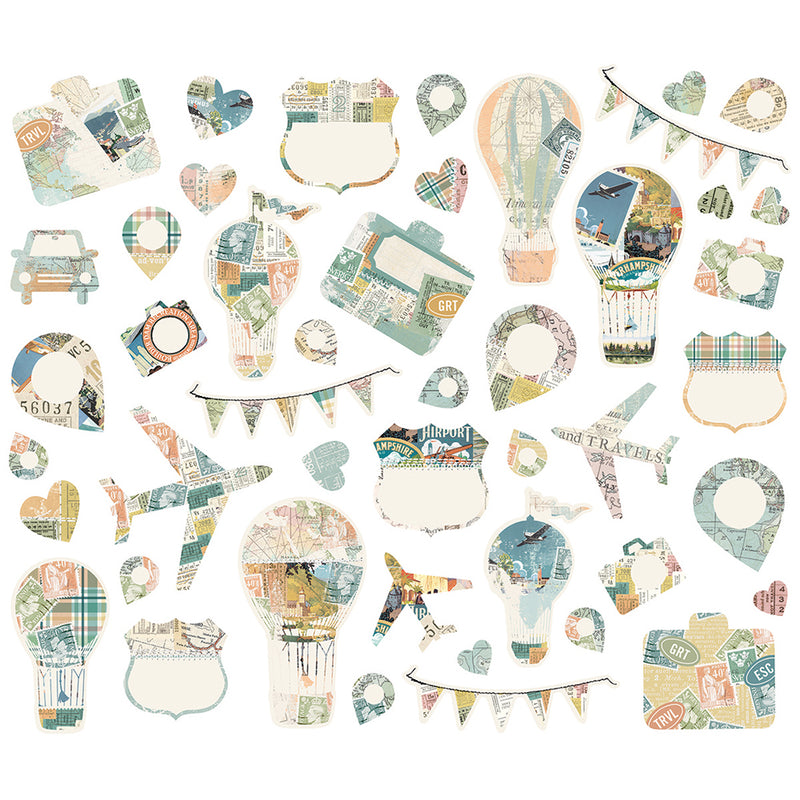 Simple Vintage Traveler Collage Bits & Pieces