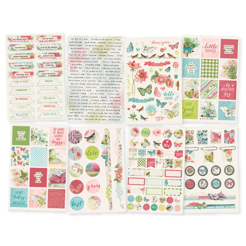 Simple Vintage Botanicals 4x6 Stickers