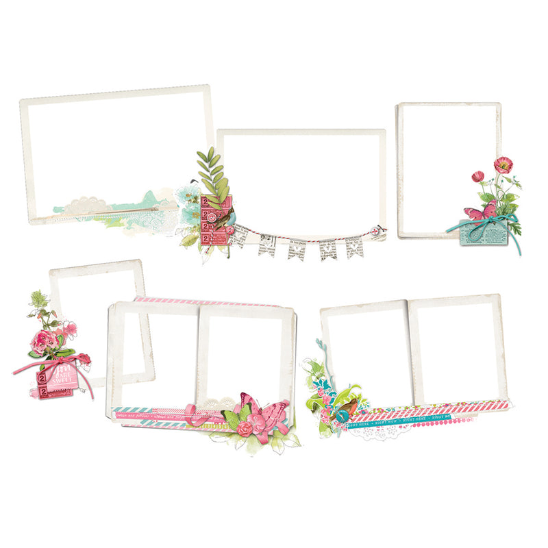 Simple Vintage Botanicals Layered Frames