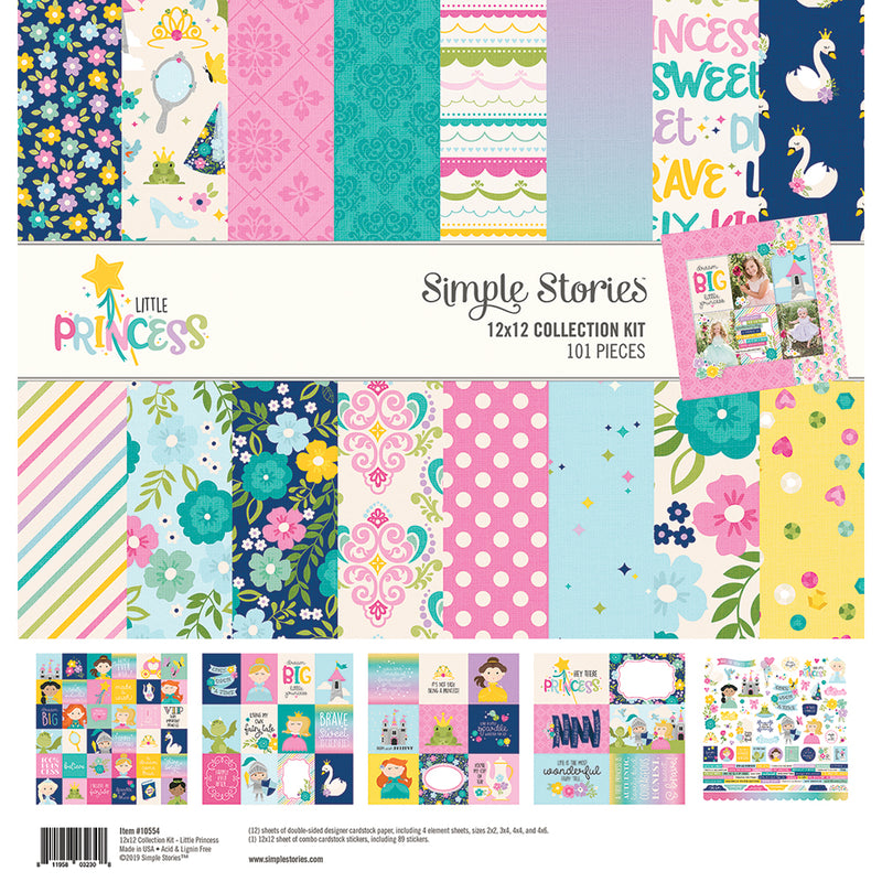Little Princess 12x12 Combo Sticker 12 pack