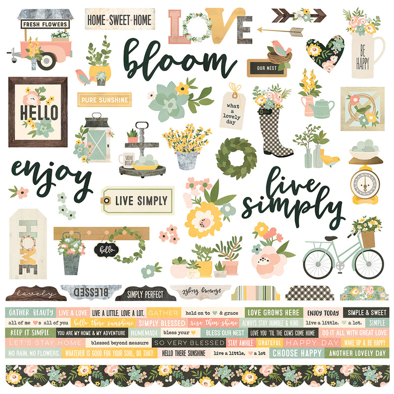 Spring Farmhouse 12x12 Combo Sticker