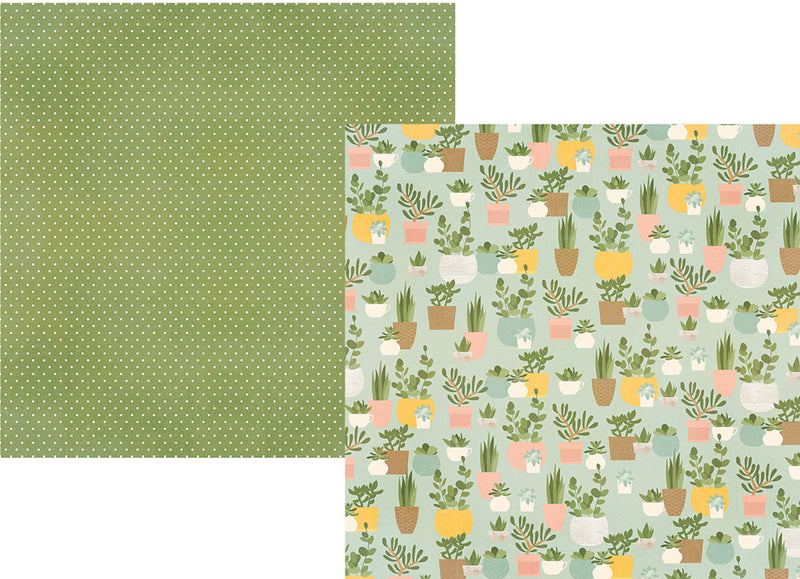 Spring Farmhouse 12x12 Paper - Blush/Green