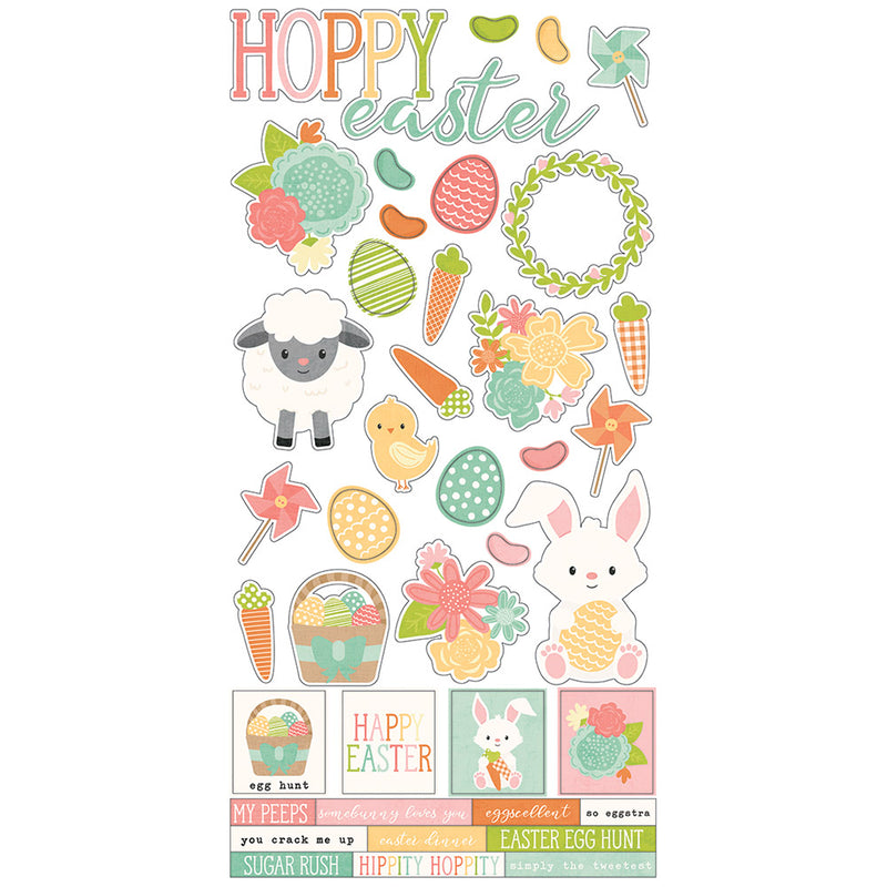 Bunnies & Baskets 6x12 Sticker