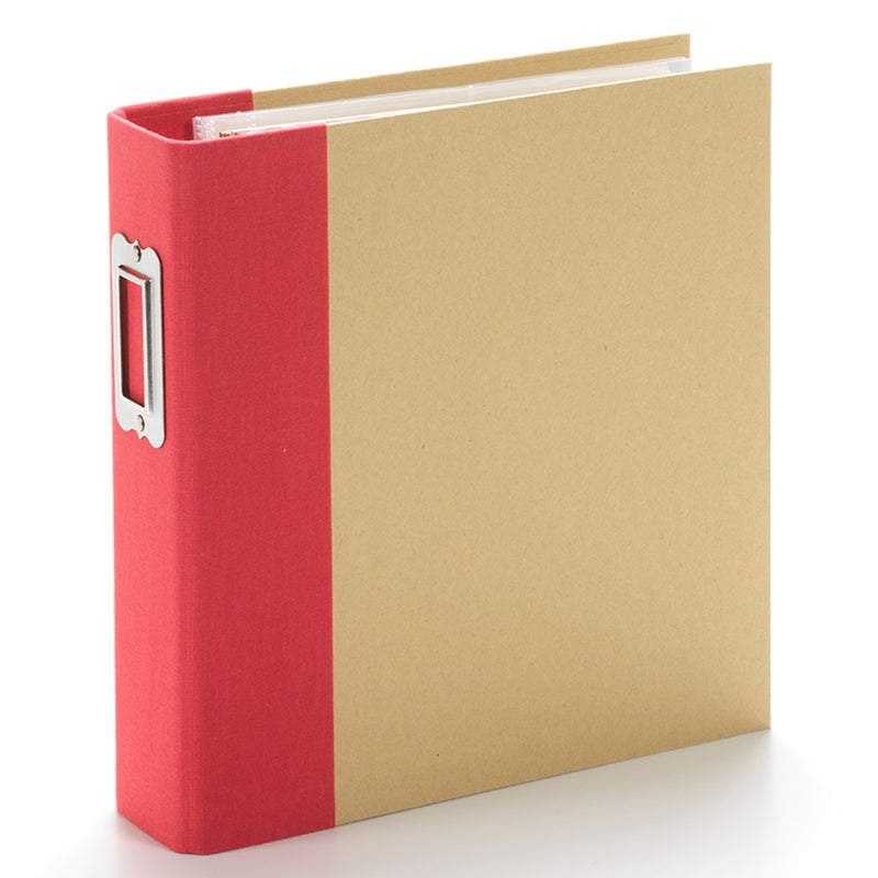 6x8 Designer Binder - Red Stripe
