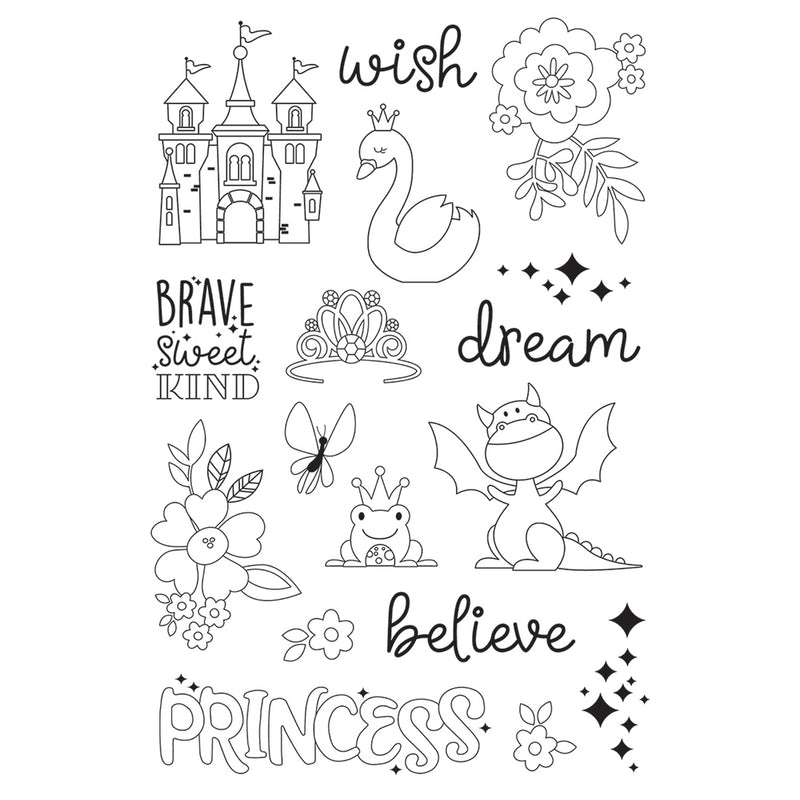 Little Princess 4x6 Stamps - Make a Wish