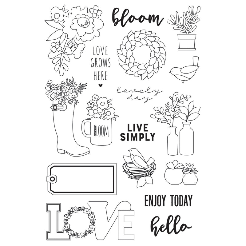 Spring Farmhouse 4x6 Stamps - Live Simply