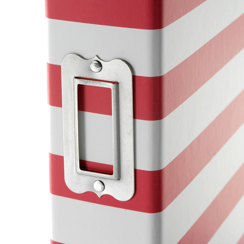 6x8 SN@P! Designer Binder - Red Stripe