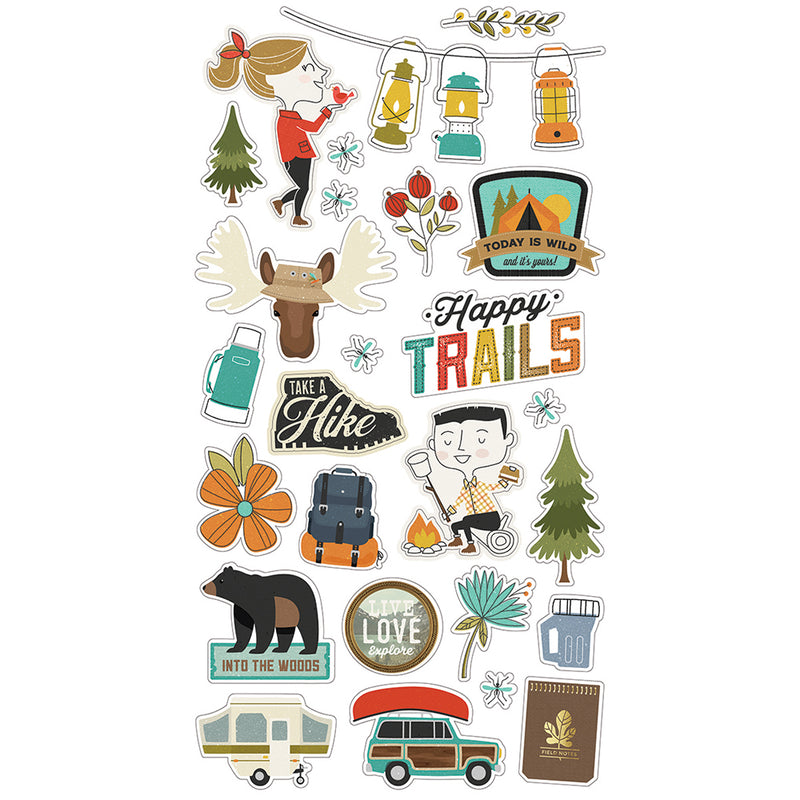 Happy Trails 6x12 Chipboard