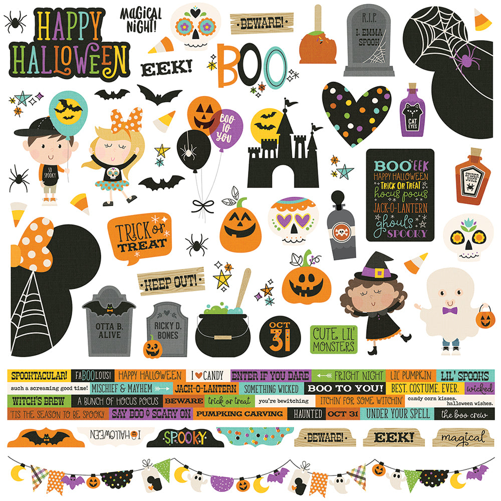 Say Cheese Halloween 12x12 Combo Sticker