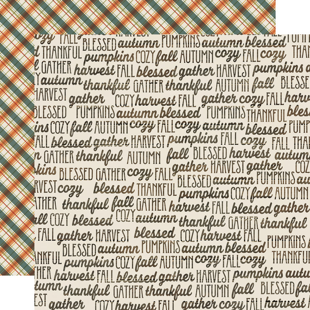Fall Farmhouse 12x12 Paper - Fall Memories