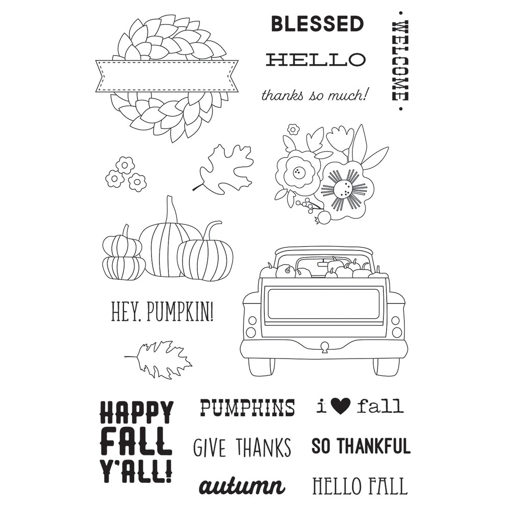 Fall Farmhouse Stamps