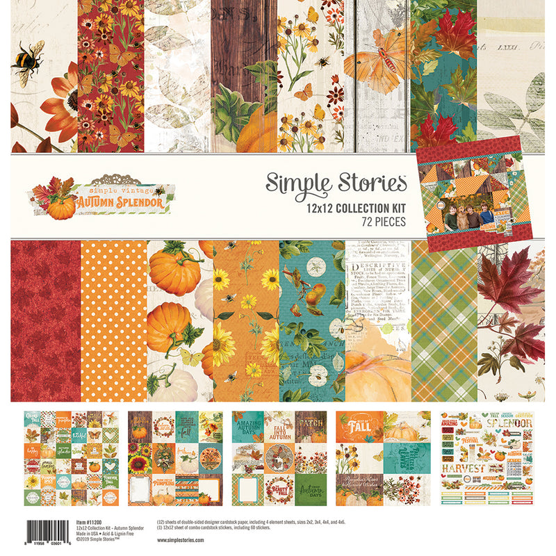 Autumn Splendor 12x12 Paper - Grateful Hearts
