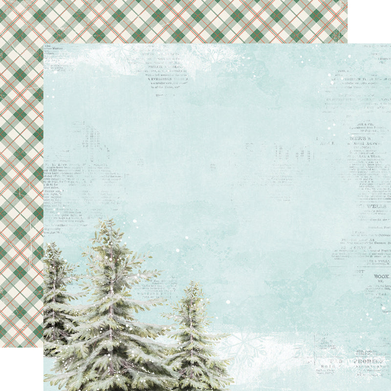Country Christmas 12x12 Paper - Good Cheer