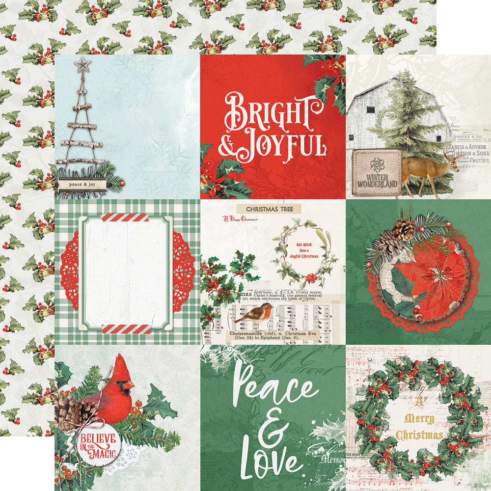 Layered Frames 11324 Simple Stories Country Christmas Collection