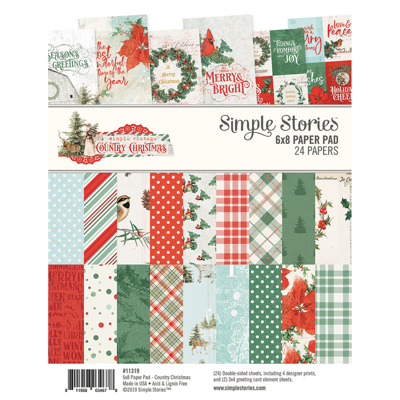 Country Christmas 6x8 Pad