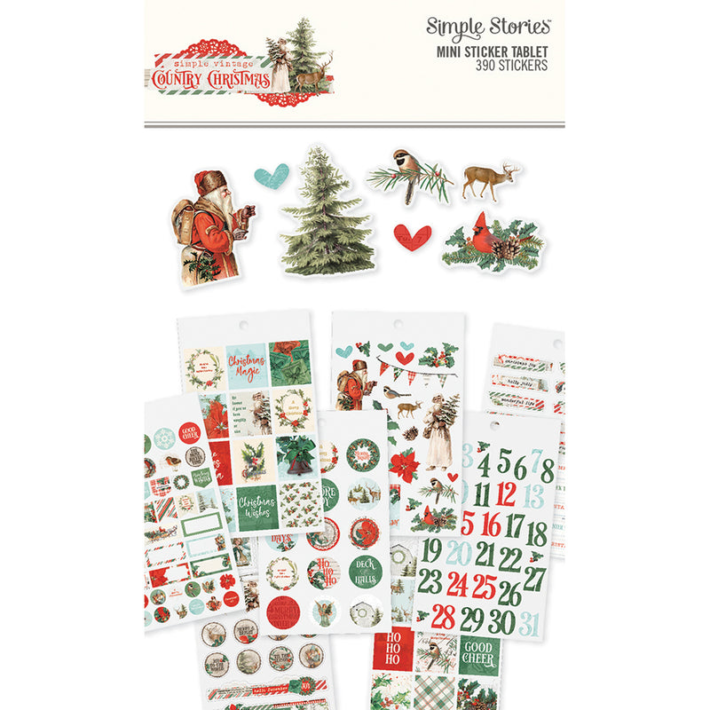 Country Christmas Mini Sticker Tablet