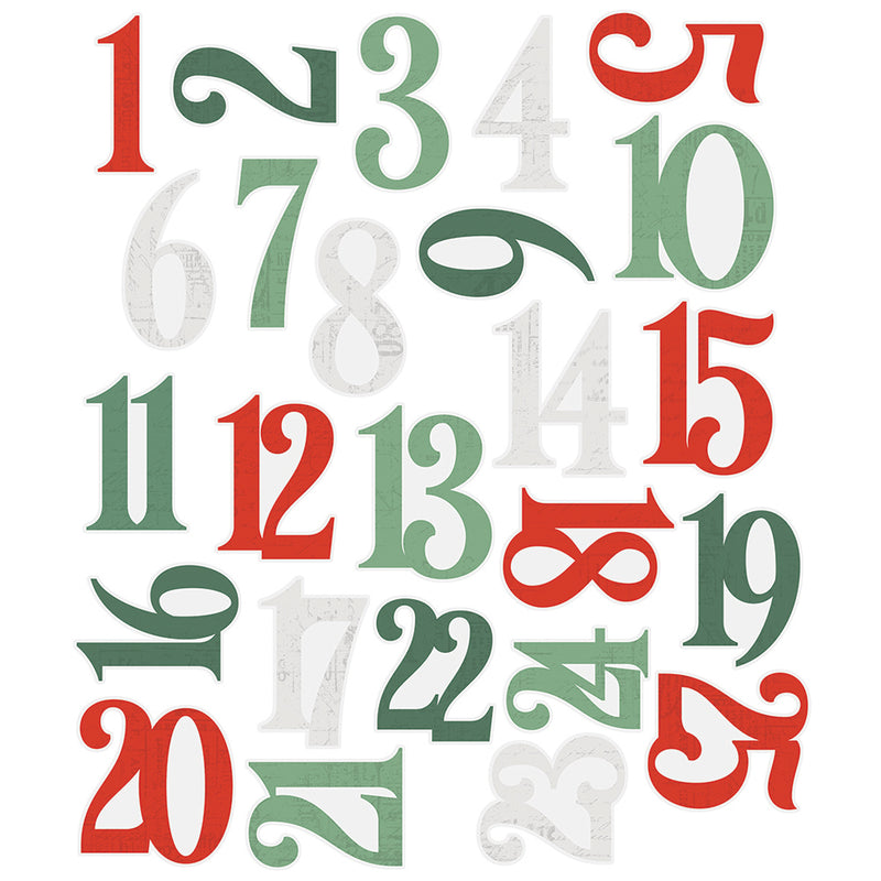 Country Christmas Number Pocket Pieces