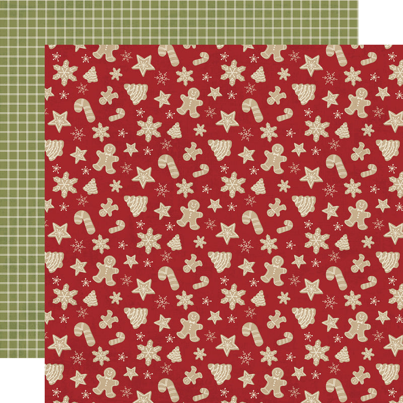 Holly Jolly 12x12 Paper - Dark Red/Dots