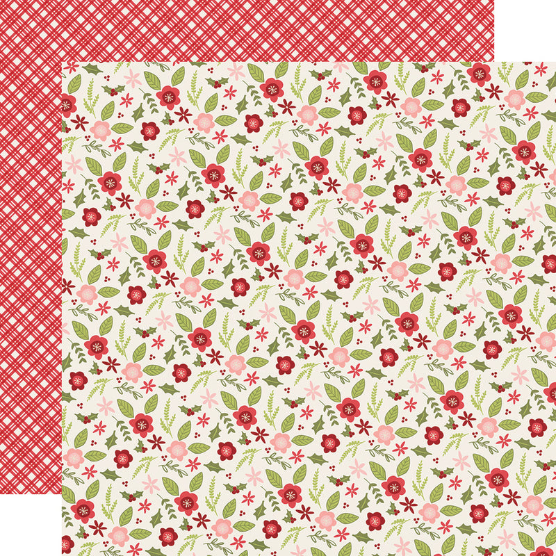 Holly Jolly 12x12 Paper - Dark Green/Dots