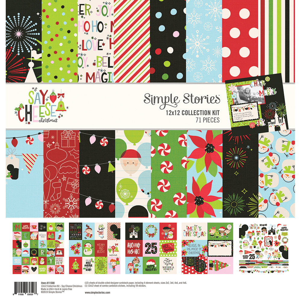 Say Cheese Christmas 12x12 Collection Kit