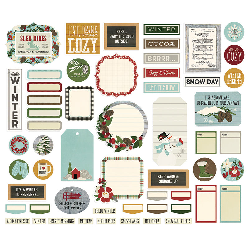 Winter Farmhouse Journal Bits & Pieces