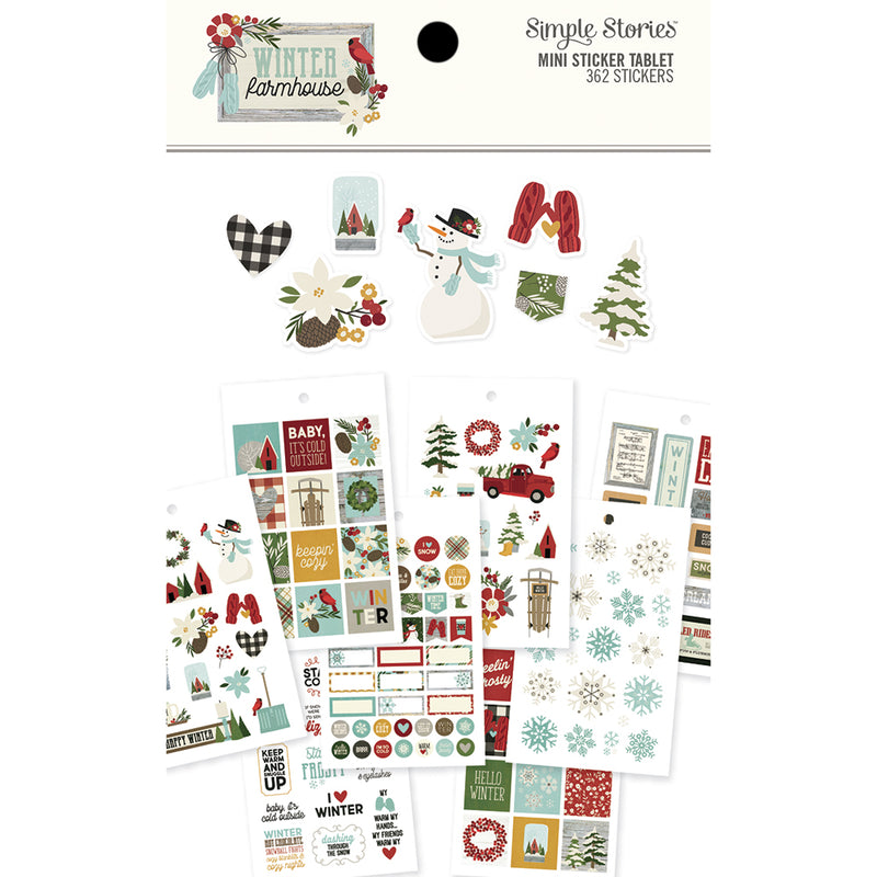 Winter Farmhouse Mini Sticker Tablet