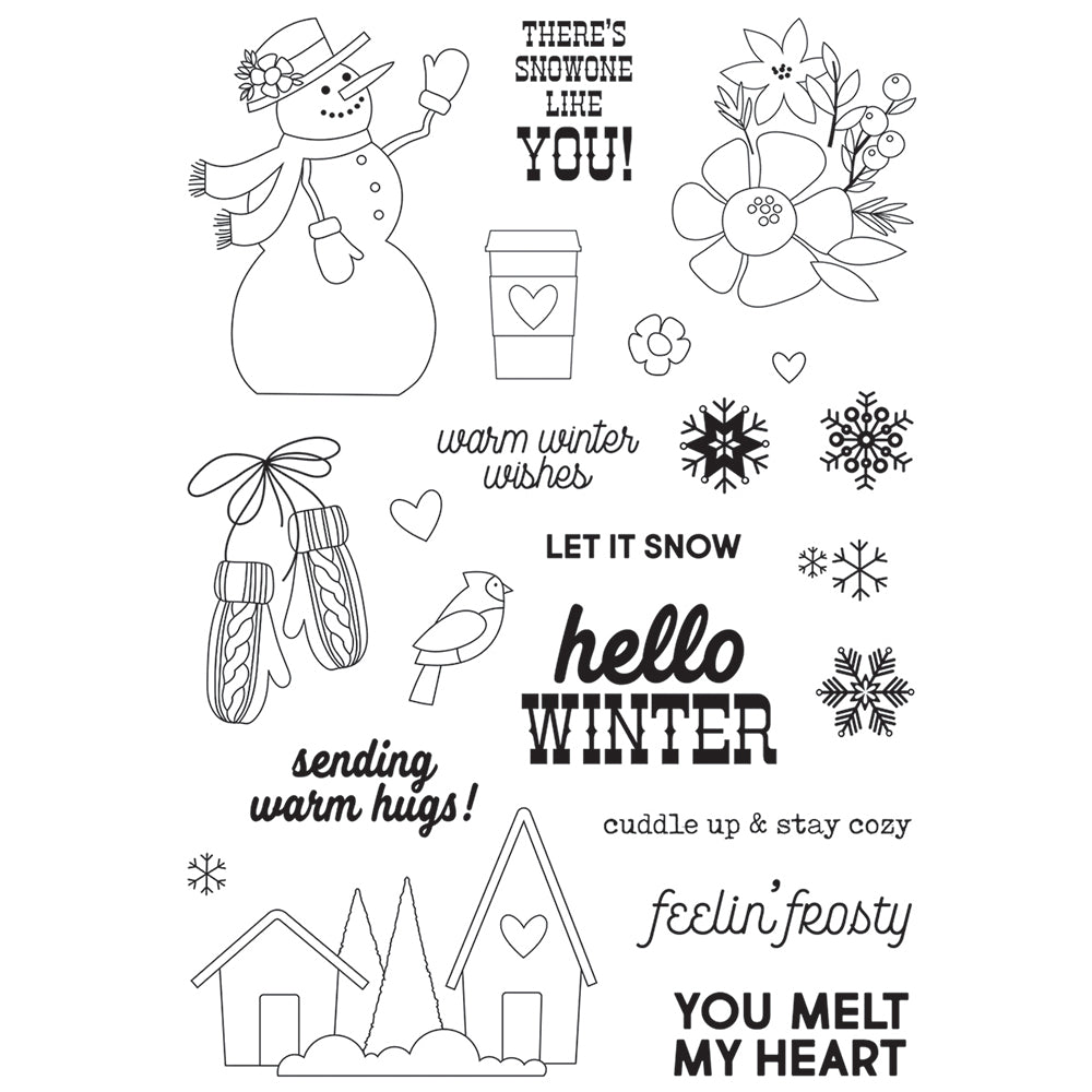 Winter Farmhouse Stamps