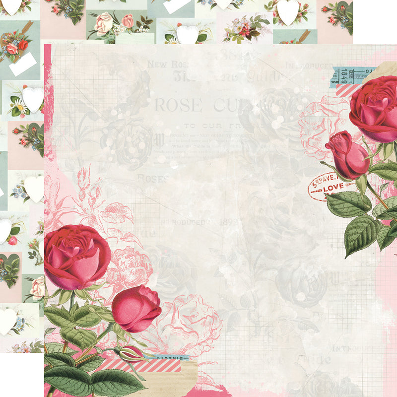 Simple Vintage My Valentine Banner Sticker