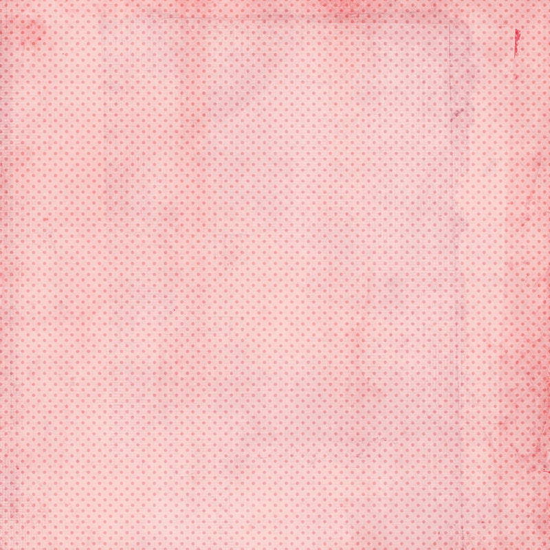 Simple Vintage My Valentine 12x12 Paper - Carnation/Blush Dots
