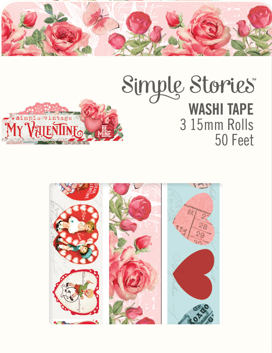 Simple Vintage My Valentine Washi Tape