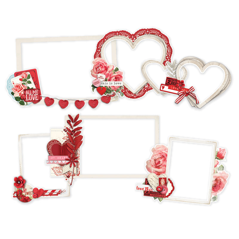 Simple Vintage My Valentine Layered Frames