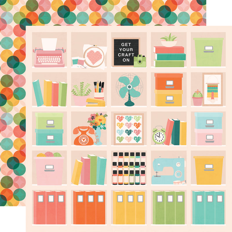 Hey, Crafty Girl! 12x12 Paper - Happy Place
