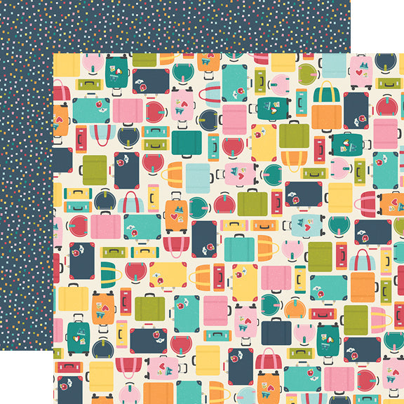 Going Places 12x12 Paper - Pack Your Bags