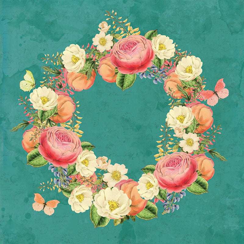 Simple Vintage Garden District 12x12 Paper - Love More