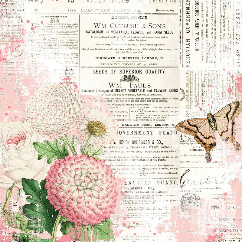 Simple Vintage Garden District 12x12 Paper - You Can Fly