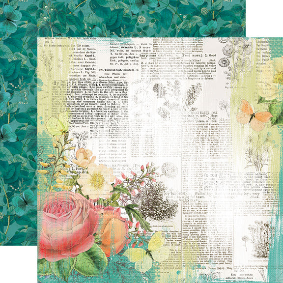 Simple Vintage Garden District 12x12 Paper - Live for Today