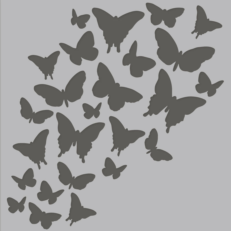 Simple Vintage Garden District 6x6 Stencil-Beautiful Butterflies