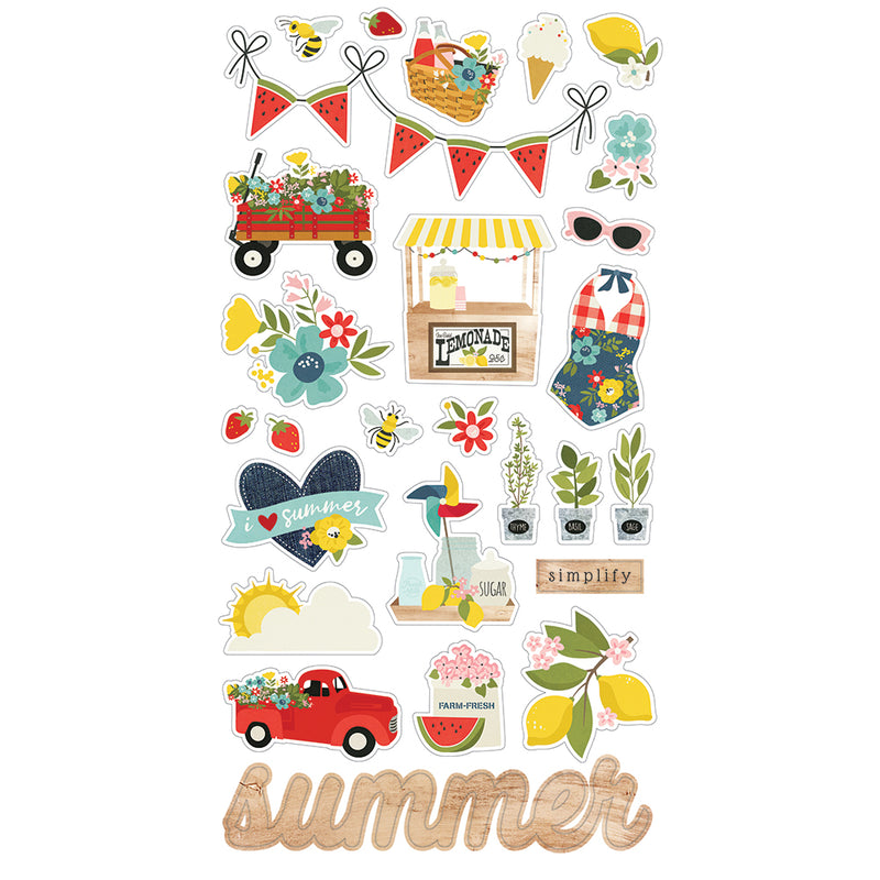Summer Farmhouse 6x12 Chipboard