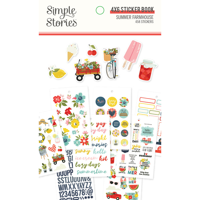 Summer Farmhouse 4x6 Sticker Book