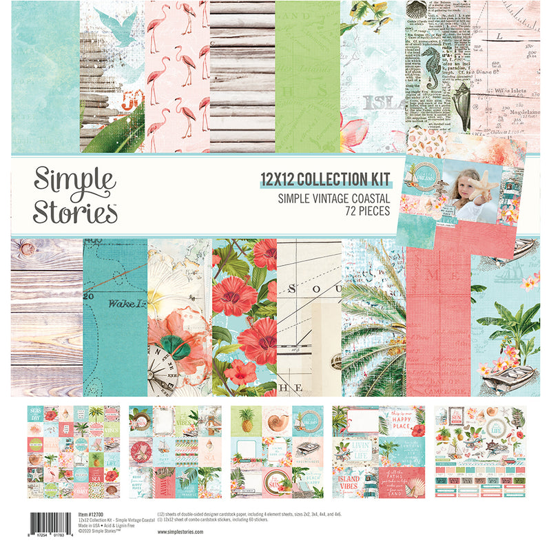 Simple Vintage Coastal 12x12 Basics Kit