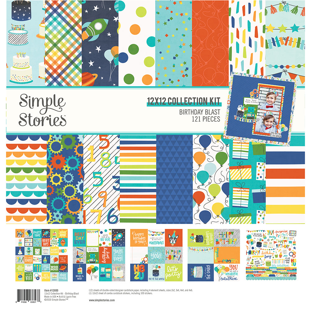 Birthday Blast 12x12 Collection Kit