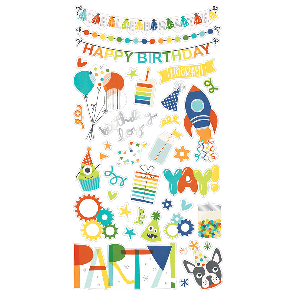 Birthday Blast 6x12 Chipboard