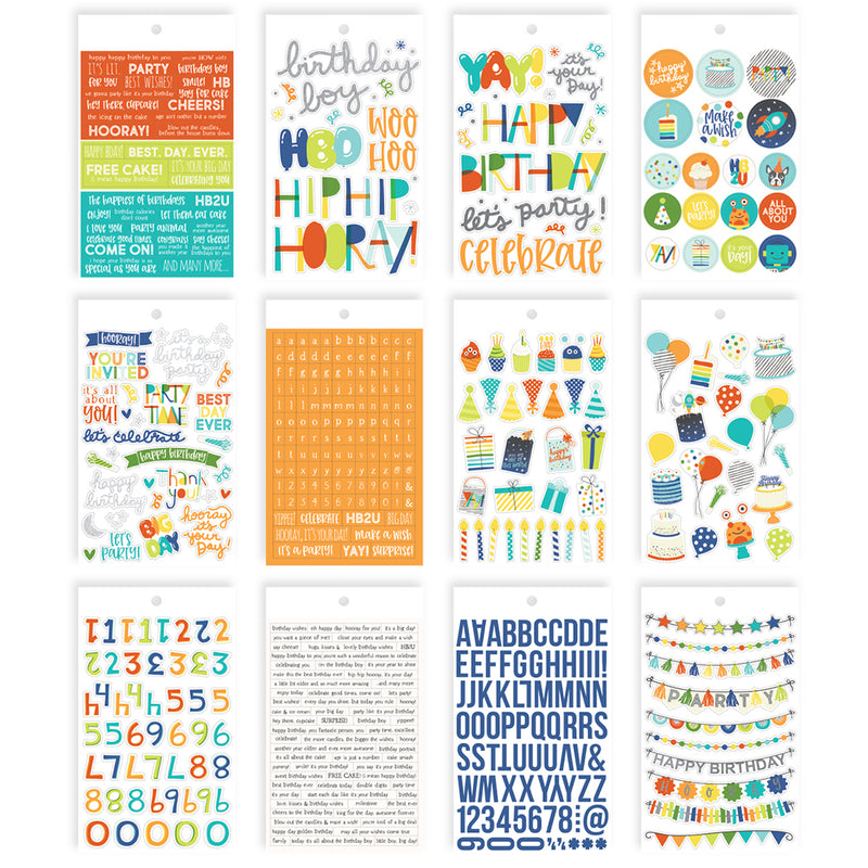 Birthday Blast 4x6 Sticker Book