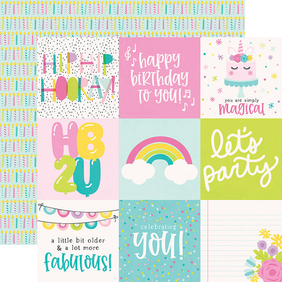 Magical Birthday 12x12 Paper - Birthday Girl