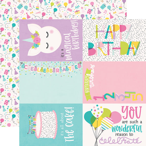 Magical Birthday 6x6 Stencil-Confetti